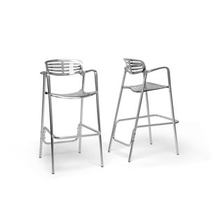 Ethan Modern Aluminum Bar Stool (Set of 2)