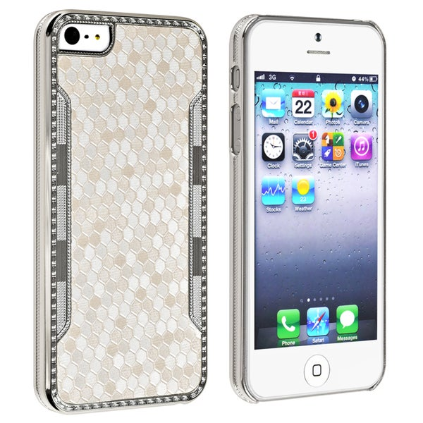 BasAcc White Snake Leather Case for Apple iPhone 5