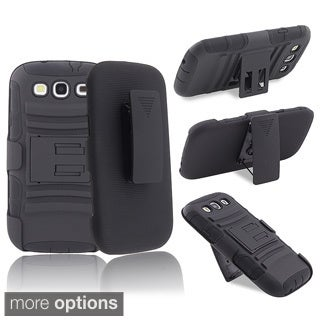 INSTEN Hybrid Phone Case Cover/ Stand/ Holster Combo for Samsung Galaxy S III/ S3
