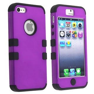 BasAcc Black Skin/ Purple Hard Hybrid Case for Apple iPhone 5