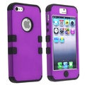 BasAcc Black Skin/ Purple Hard Hybrid Case for Apple iPhone 5