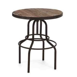 Twin Peaks Distressed Natural Bar Table