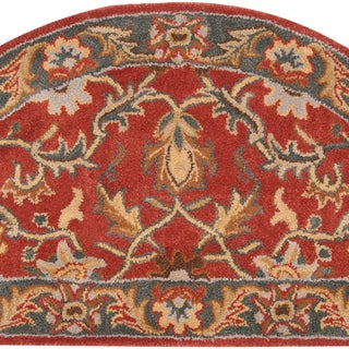 Hand-tufted Scobey Rust Traditional Border Wool Rug (2' x 4')