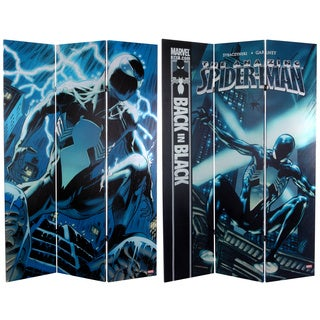 Six-Foot Tall Double Sided 'Spider-Man Back in Black' Canvas Room Divider