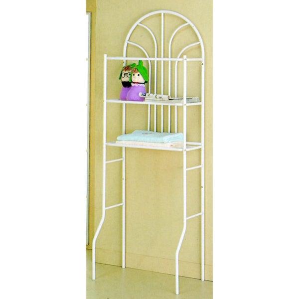 Madison Park White Bathroom Space Saver Shelf