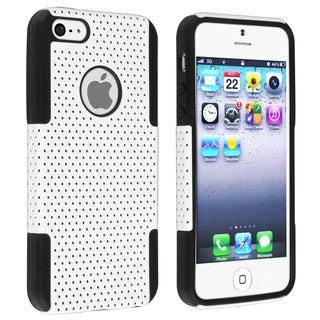 INSTEN Black Skin/ White Mesh Hybrid Phone Case Cover for Apple iPhone 5