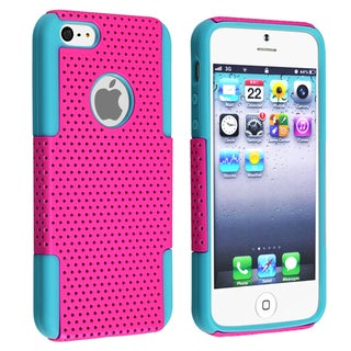 BasAcc Blue Skin/ Hot Pink Mesh Hybrid Case for Apple� iPhone 5