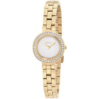 Citizen Women's Goldtone Eco-Drive Silhouette Watch