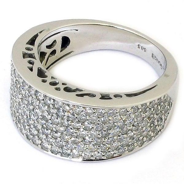 Sonia Bitton 14k Gold 1 1/5ct TDW Diamond Pave Designer Ring (G-H, SI1-SI2)