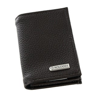 Rolodex Low Profile Dark Brown Business Card Book