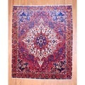 Persian Hand-knotted Bakhtiari Red/ Orange Wool Rug (9' x 11')