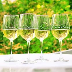 Cheers! White Wine Glasses (Set of 4)
