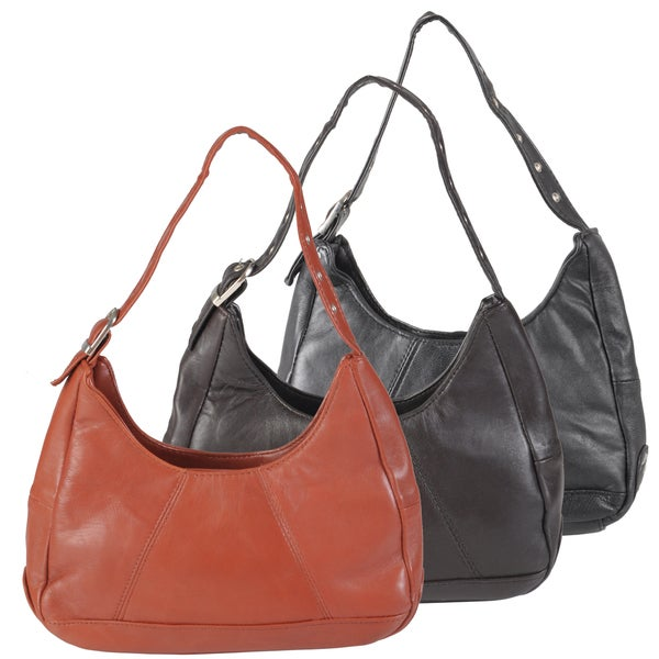 Journee Collection Women's Lambskin Leather Handbag