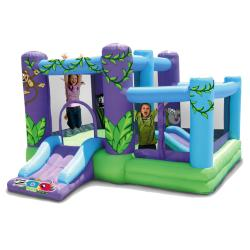 KidWise Zoo Park 320D Oxford Nylon Inflatable Bounce House with Balls