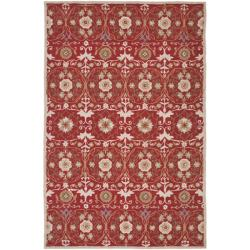 Hand-hooked Chelsea Styles Red Wool Rug (7&#39;9 x 9&#39;9)