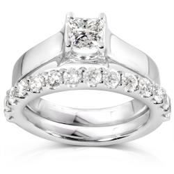 14k White Gold 1 1/4ct TDW Diamond Bridal Ring Set (H-I, I1-I2)