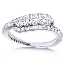 14k White Gold 5/8ct TDW Curved Diamond Band (H-I, I1-I2)