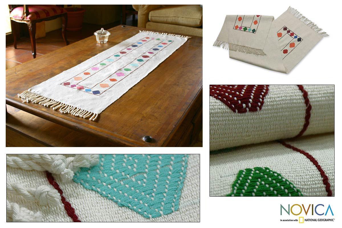Cotton 'Maya Kites' Table Runner (Guatemala)