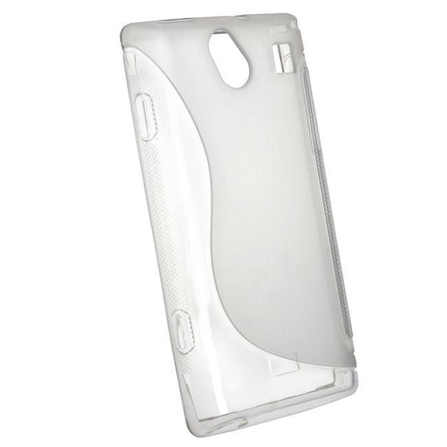Frost Clear White S Shape TPU Rubber Case for Samsung i8700 Omnia
