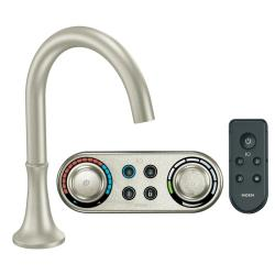 Moen Brushed Nickel High Arc Roman Tub Faucet Includes Iodigital Technology