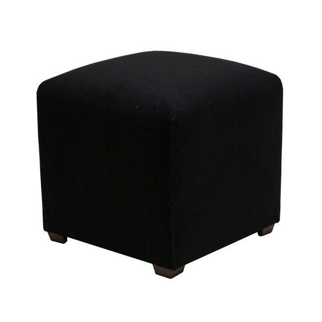 Tyler Black Cube Ottoman