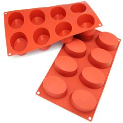 Freshware 8-cavity Oval Cake Silicone Mold/ Baking Pans (Pack of 2)