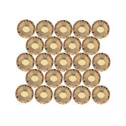 Beadaholique Light Colorado Topaz ss16 Crystal Flatback Rhinestones (Pack of 50)