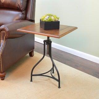 Morgan Chestnut/ Black Adjustable End Table