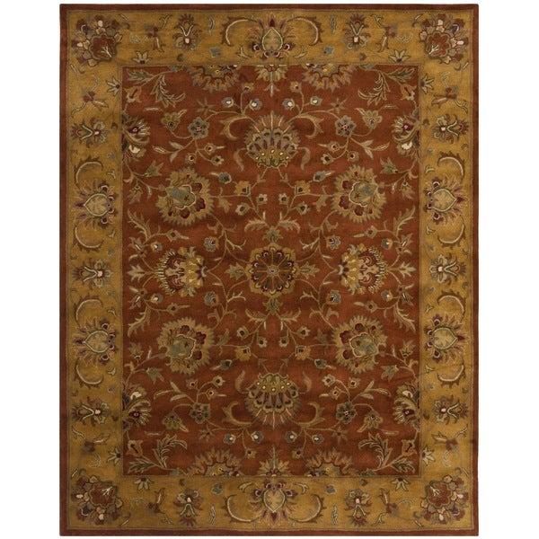 Safavieh Handmade Heritage Rust/ Beige Wool Rug