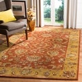Handmade Heritage Rust/ Beige Wool Rug