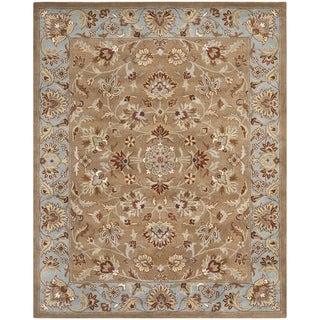 Safavieh Handmade Heritage Brown/ Blue Wool Rug