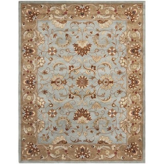 Safavieh Handmade Heritag Blue/ Brown Wool Rug