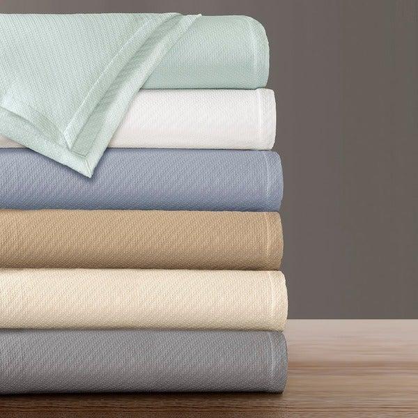 Premier Comfort Liquid Solid Colored Woven Cotton Blanket