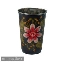 Hand-painted Metal Vase (India)