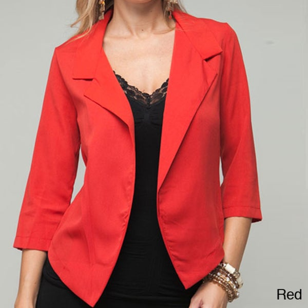 Stanzino Women's Tailored Open Front Blazer