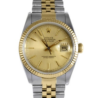 Pre-owned Rolex Men's Two-tone Steel Datejust Watch