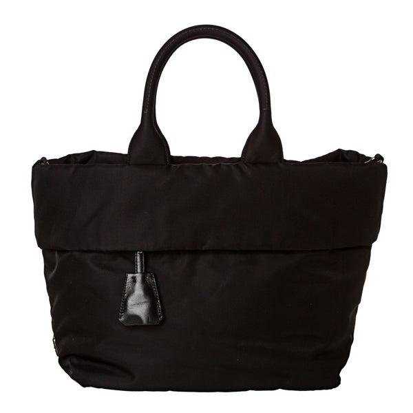 Prada 'Tessuto Double' Black Nylon Reversible Tote Bag
