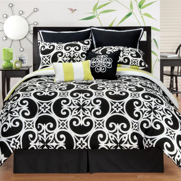 Kennedy Reversible 8-piece Comforter Set