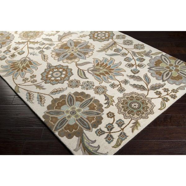 Hand-tufted Tuleta Ivory Wool Rug