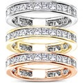 14k Gold 2ct TDW Princess Diamond Eternity Ring (G-H, SI1-SI2)