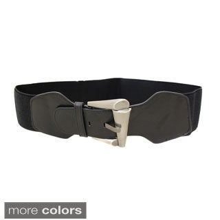 Ladies Basics Women's Contoured Elastic High Waist Stretch Belt