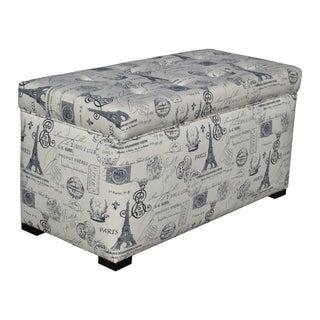 Sole Designs Angela Paris Match Blue Storage Trunk