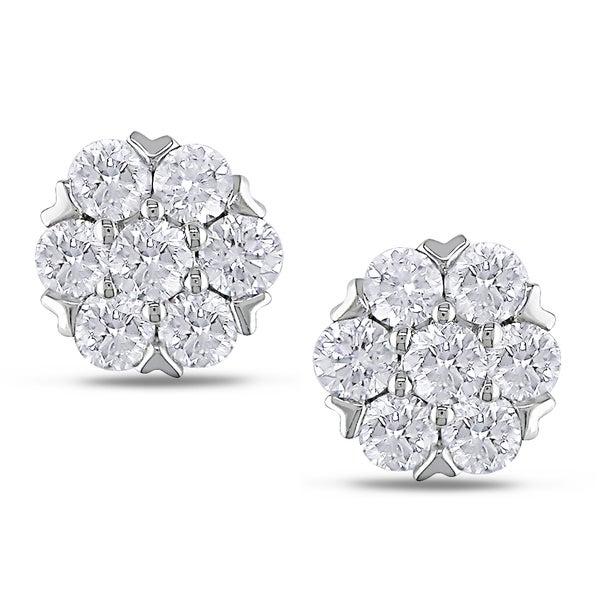 Miadora 14k White Gold 1ct TDW Diamond Stud Earrings (G-H, SI1-SI2)