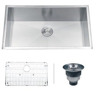 Ruvati RVH7405 Undermount 16 Gauge 32-inch Single Bowl Kitchen Sink