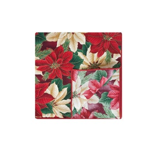 Crimson Napkin by Rose Tree Christmas Evergreen 18-inch Napkins (Set of 6)