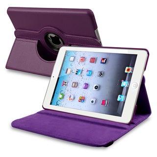 INSTEN Purple Leather Swivel Tablet Case Cover for Apple iPad Mini 1/ 2 Retina Display