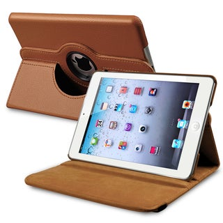 INSTEN Brown Leather Swivel Tablet Case Cover for Apple iPad Mini 1/ 2 Retina Display