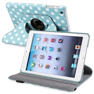 INSTEN Black Leather Swivel Tablet Case Cover for Apple iPad Mini 1/ 2 Retina Display