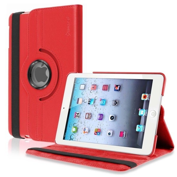 INSTEN Black Leather Swivel Tablet Case Cover for Apple iPad Mini 1/ 2 Retina Display