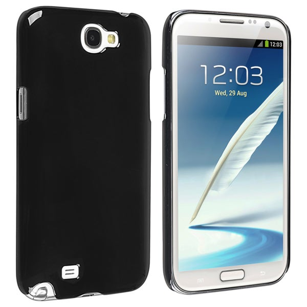 INSTEN Black Snap-on Phone Case Cover for Samsung Galaxy Note II N7100